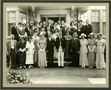 Calvert family wedding, c. 1935. (Peel Archives/PAMA, McGuigan-Parr Collection)