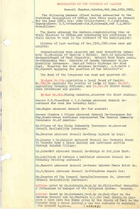 Township of Caledon council minutes page, January 12, 1931