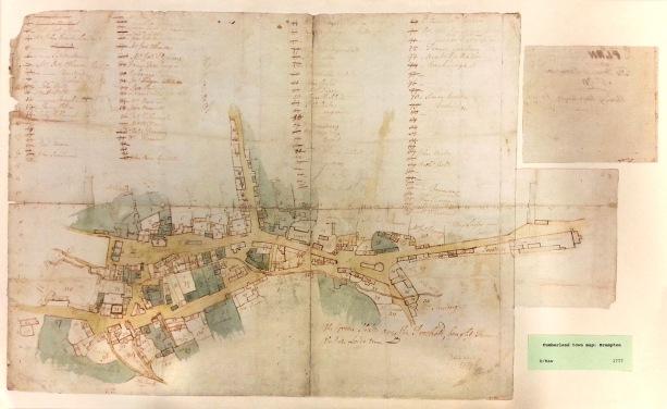 Cumberland Town Map, Brampton, 1777. Cumbria Archive Service.