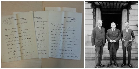 Canadians may be surprised to learn that the Cumbria Archive Service has letters from Prime Minister William Lyon Mackenzie King. They were written to influential diplomat Sir Esme Howard who was a titled landowner in Cumbria. A photograph from Library and Archives Canada shows King and Howard together in Washingon DC.