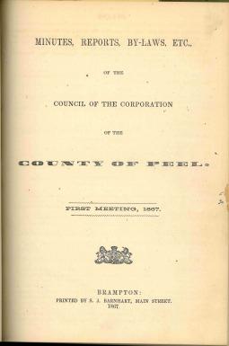 Peel County minutes, 1867