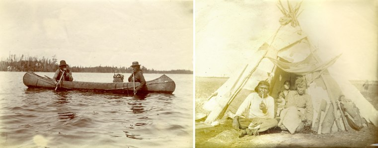 Early 1900s reserve - joined (canoe and family)