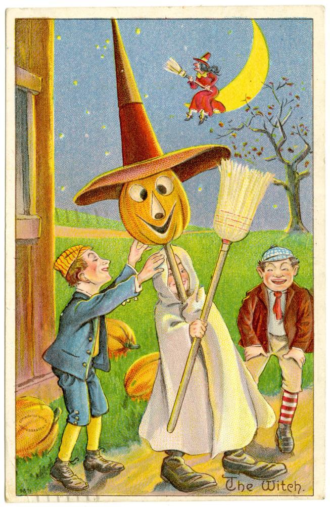 Halloween postcard, 1910