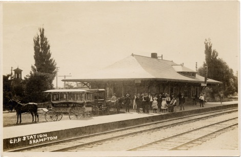 Canadian Pacific Railway station, Brampton, [ca. 1910] PN2009_91207