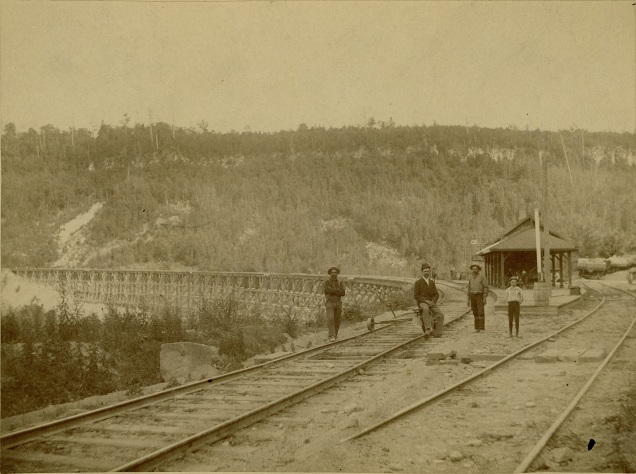 Railway workers, Credit Forks, Township of Caledon, [ca. 1890]