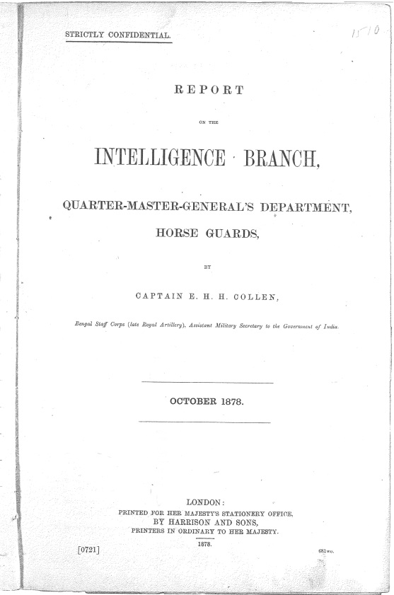 Intelligence report, 1878
