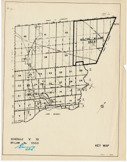 The key map from the Appendix to the zoning bylaw